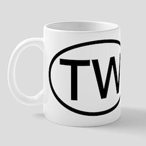 TW - Initial Oval Mug