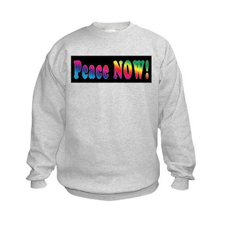 Peace NOW! Kids Sweatshirt