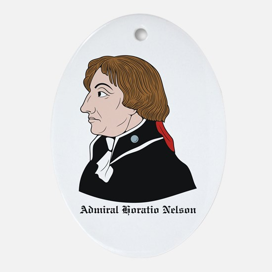 Admiral Horatio Nelson Oval Ornament
