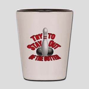 Bowling dirty humor Shot Glass