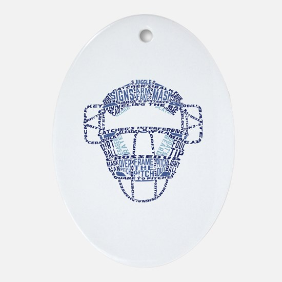 Cute Mask Oval Ornament