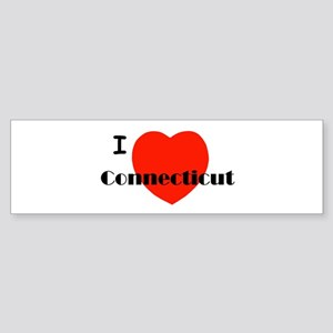 I Love Connecticut! Bumper Sticker