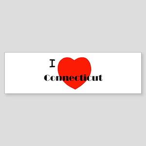 I Love Connecticut! Bumper Sticker