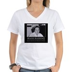 Infection Control Humor 02 Women's V-Neck T-Shirt