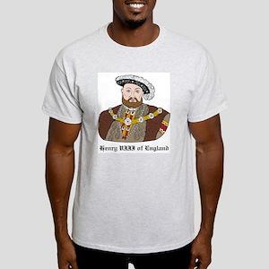 King Henry VIII Ash Grey T-Shirt