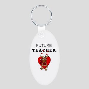 Future Teachers Aluminum Oval Keychain