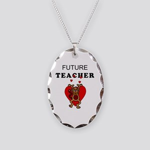 Future Teachers Necklace Oval Charm