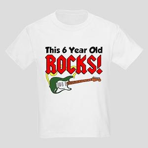 This 6 Year Old Rocks Kids Light T-Shirt
