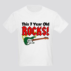 This 7 Year Old Rocks Kids Light T-Shirt