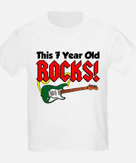 This 7 Year Old Rocks T-Shirt