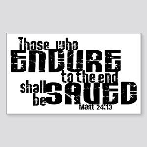Endure to the End Rectangle Sticker