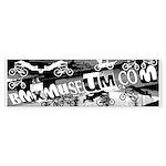 BMXMUSEUM CHAINWHEEL LOGO Bumper Sticker