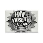 BMXMUSEUM CHAINWHEEL LOGO Rectangle Magnet (100 pa