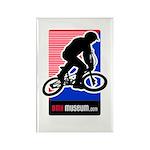 BMXMUSEUM redwhitebl LOGO Rectangle Magnet (10 pac