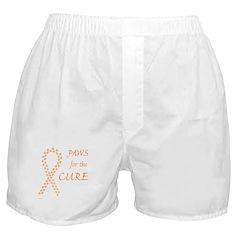 Orange Paws Cure Boxer Shorts