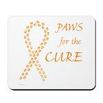 Orange Paws Cure Mousepad