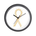 Orange Paws Cure Wall Clock