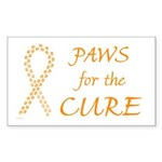 Orange Paws Cure Rectangle Sticker