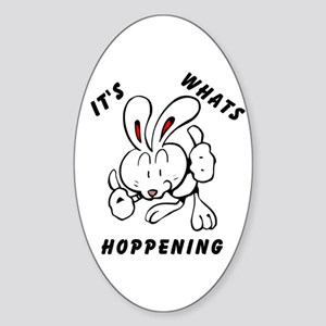 Whats Hoppening Oval Sticker