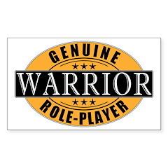 Genuine Warrior Gamer Rectangle Decal