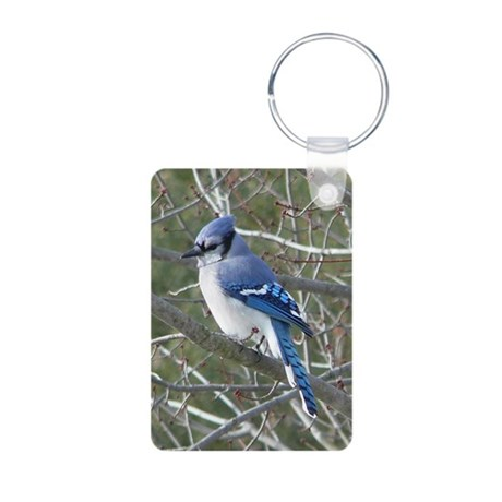 Blue Jay Aluminum Photo Keychain