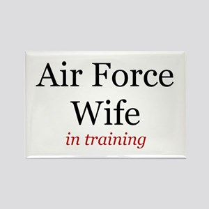Air Force Wife in training Rectangle Magnet