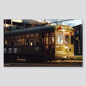 Missing the Streetcar Rectangle Sticker