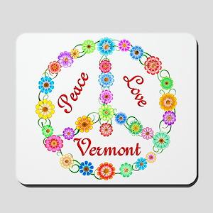Peace Love Vermont Mousepad