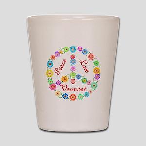 Peace Love Vermont Shot Glass