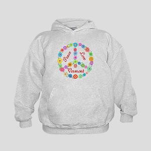 Peace Love Vermont Kids Hoodie