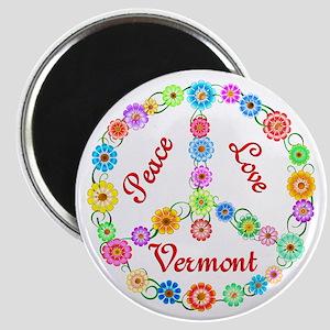 Peace Love Vermont Magnet