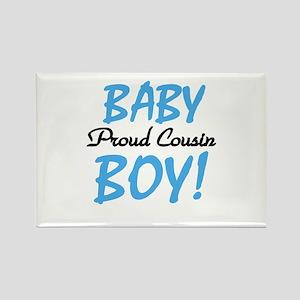 Baby Boy Proud Cousin Rectangle Magnet