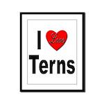 I Love Terns Framed Panel Print
