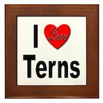 I Love Terns Framed Tile