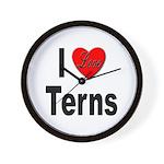 I Love Terns Wall Clock