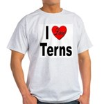 I Love Terns (Front) Ash Grey T-Shirt