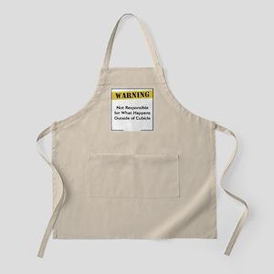 Cubicle Warning BBQ Apron