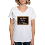 Teachers Have Class Women's V-Neck T-Shirt