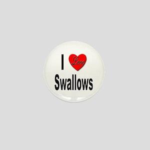 I Love Swallows Mini Button