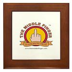 The Middle Finger Framed Tile