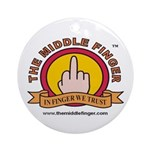 The Middle Finger Ornament (Round)