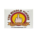 The Middle Finger Rectangle Magnet (100 pack)