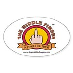 The Middle Finger Oval Sticker