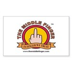 The Middle Finger Rectangle Sticker