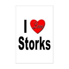 I Love Storks Posters