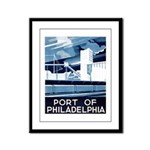 Port Of Philadelphia Framed Panel Print