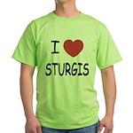I heart sturgis Green T-Shirt