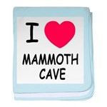 I heart mammoth cave baby blanket
