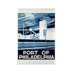 Port Of Philadelphia Rectangle Magnet (10 pack)