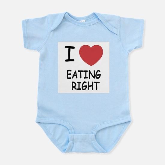 I heart eating right Infant Bodysuit